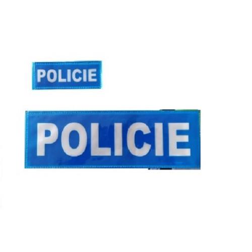 Nášivky POLICIE modrá, reflexní-set