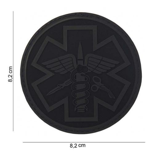 Nášivka 3D PVC PARA MEDIC - černá
