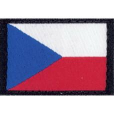 Nášivka Vlajka ČR - 4 x 2,6 cm s velcro