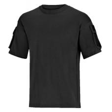 Taktické tričko s velcro panely - černé