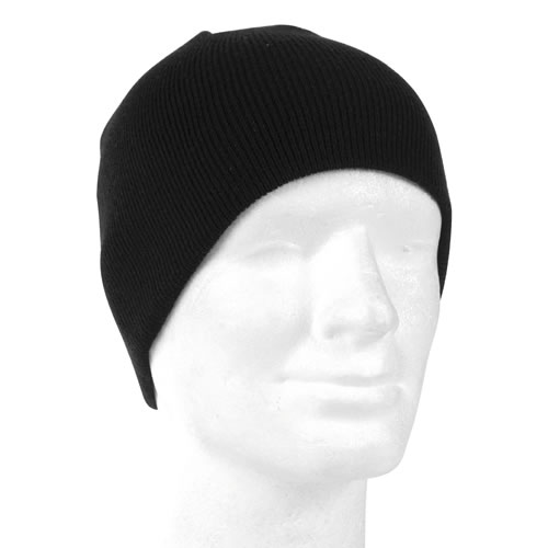 Čepice BEANIE pletená - černá