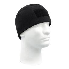 Čepice Tactical Polár Fleece s velcro - černá