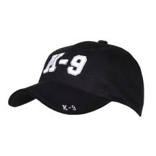 Kšiltovka s motivem K-9  - černá