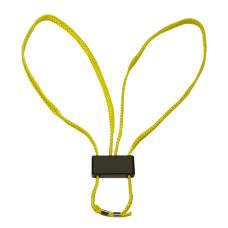Jednorázová textilní pouta  žlutá 5 ks.
