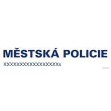 Magnetický nápis OBECNÍ (MĚSTSKÁ) POLICIE