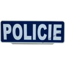 Nápis na stínítko POLICIE modro - bílý