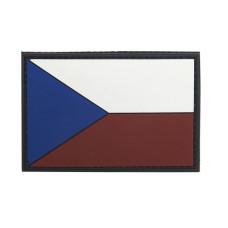 Nášivka 3D gumová Vlajka ČR - 7,9 x 5,4 cm