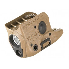 Podvěsná svítilna Streamlight TLR-6 písková, GLOCK 42/43 , 100 lm, červený laser