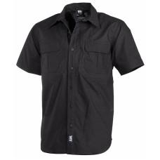 Košile MFH Strike krátký rukáv  Teflon - ripstop - černá