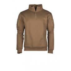Mikina Tactical 1/3 zip Dark Coyote
