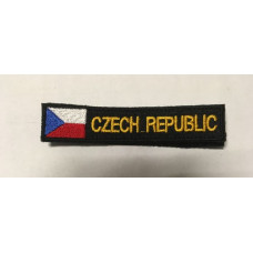 Nášivka CZECH REPUBLIC  s vlaječkou - suchý zip