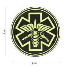 Nášivka 3D PVC PARA MEDIC - černo/žlutá