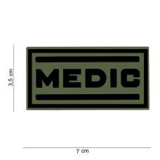 Nášivka 3D PVC MEDIC - zelená