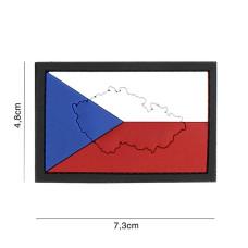 Nášivka 3D gumová Vlajka ČR - obrys