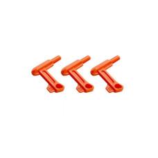 Bezpečnostní vložka do nábojové komory zbraně .22 Cal. / .22 LR / 5.56 mm, 10 kusů - oranžová